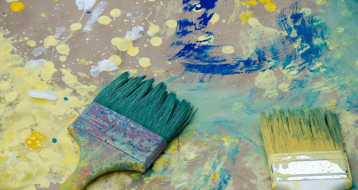 taches de peinture